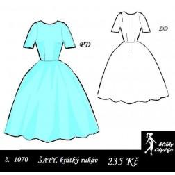 Šaty, krátký rukáv, Věrka