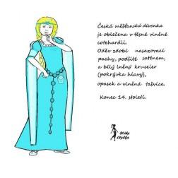 COTEHARDIE  dívčí měšťanský svrchní oděv