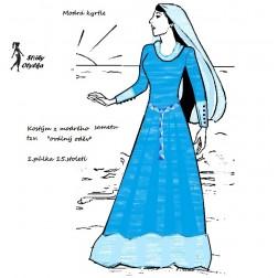Choděcí sukně zvaná kyrtle a spodní košile tzv. oplečí