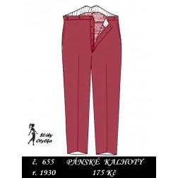 Kalhoty oblekové, vycházkové Zikmund