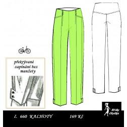 Úzké kalhoty s manžetou, Elza