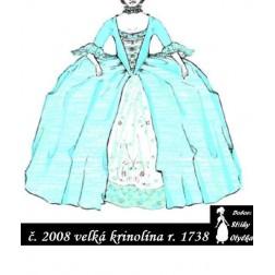 Šaty s velkou krinolínou Alice, r. 1860