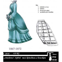 Dámské šaty crinolettes