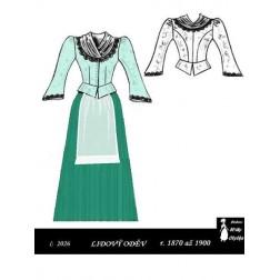 Lidový oděv Pepička r. 1870 až 1900