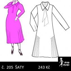 Šaty členěné Lotka