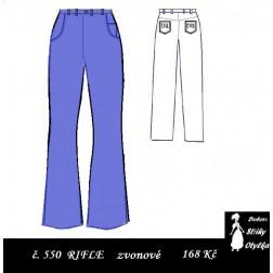 Riflové kalhoty Agáta / Reny