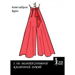 Kalhotová sukně Sabrina