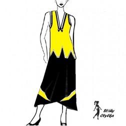 Kostým - halenka a sukně Albína
