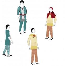 PÁNSKÁ tunika, kabátec, kapuce, nohavice