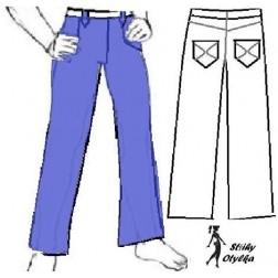 Riflové kalhoty Ríša