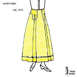 Sukně model r. 1912