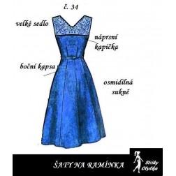 Šaty bez rukávů Dobromila