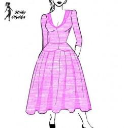 Šaty s nabíranou sukní, Františka