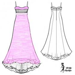 Šaty s náprsenkou Agnes